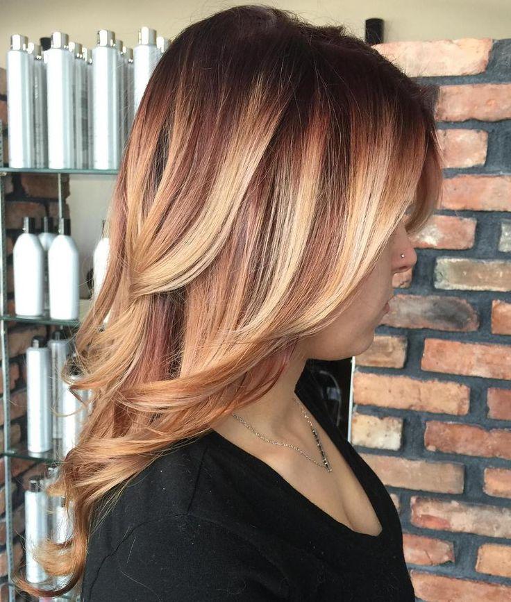 Auburn Hair Highlights With Dark Hair