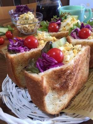 簡単!お洒落!詰めるだけ〜♪卵サラダのポケットサンドイッチ by SHIMA | レシピサイト「Nadia | ナディア」プロの料理を無料で検索
