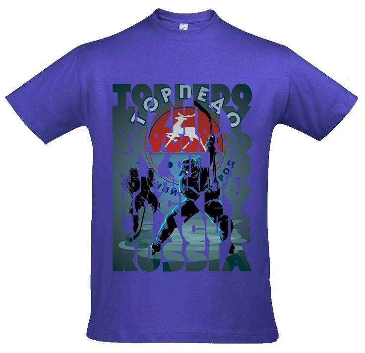 Футболка с принтом The Nizhny Novgorod Torpedo is my club