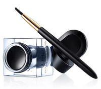 Hotsale Cosmetic Dual Stereo Charm Delineador de ojos maquillaje a prueba de agua Eyeliner Gel Crema Con El Cepillo 6color Freeshipping