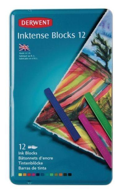 Derwent Inktense Block - Tin of 12