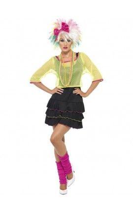 Disfraz de fiesta pop años 80 para mujer