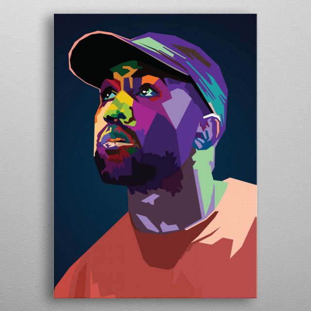 Kanye West Wpap Pop Art Metal Poster Kanye West Painting Rapper Art Pop Art