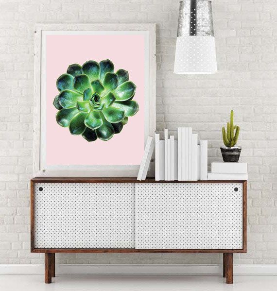 Succulent Print Plant Wall Art Print Printable by HomeDecorTips