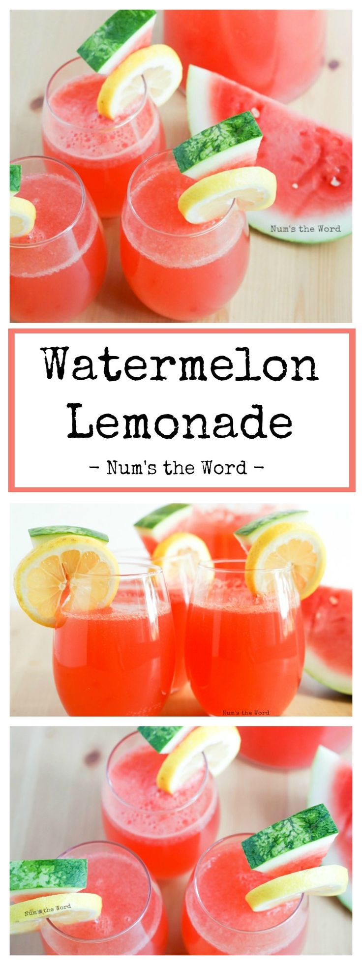Sparkling Watermelon Lemonade – Looking for a way to use up all that watermelon? Need a quick and refreshing summer drink? Try this delicious and easy Watermelon Lemonade.