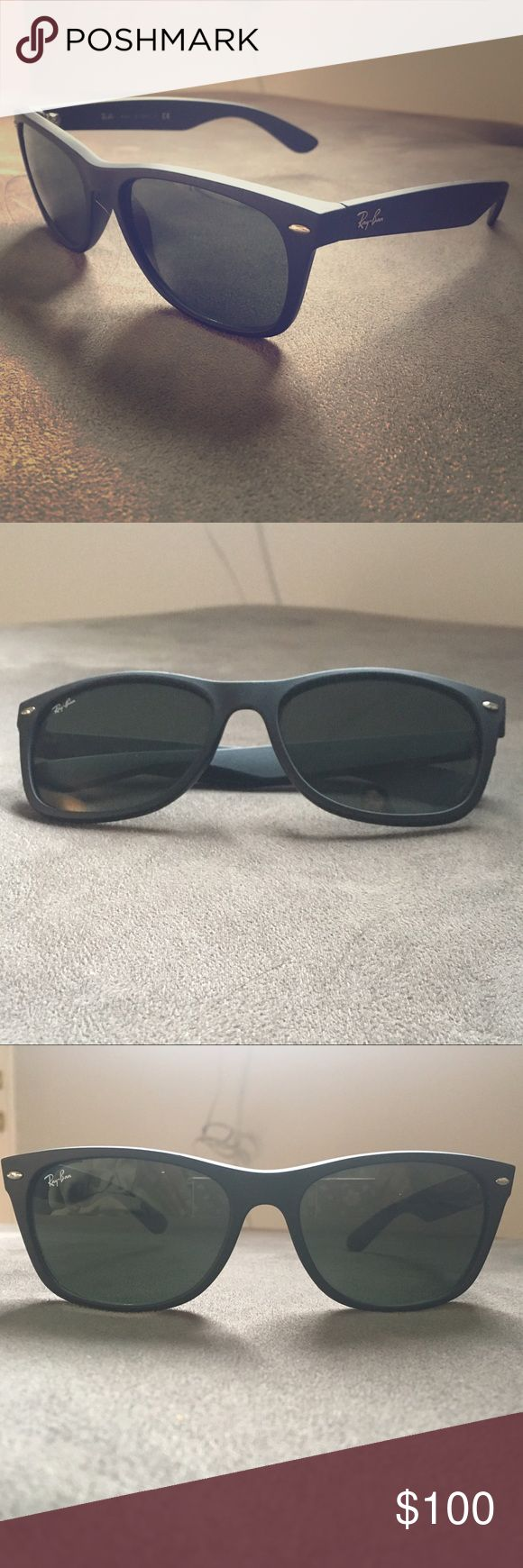 LIKE NEW Ray-Ban Wayfarer Black Matte Sunglasses‼️ LIKE NEW Ray-Ban Original Wayfarer Classic Black Matte Sunglasses ‼️ Model code: RB2132 622 52-18 The Ray-Ban New Wayfarer Matte guides the trend in everything that comes in matte. Using the same shape as the Original Wayfarer Sunglasses, New Wayfarer Matte sunglasses are a smaller interpretation of this infamous style. With an edgy touch and feel, Ray-Ban RB2132 New Wayfarer Matte sunglasses are a must-have.   Frame material: Nylon Shape…