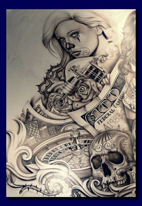 Chicano art tattoos pictures to pin on pinterest tattooskid for Chicano tattoo art