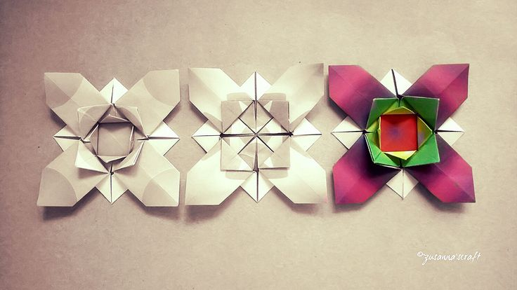 Flower X  Designer #AliBahmani Video Tutorial by # EvanZodl you tube channel  Folded #zusannascraft Photo #zusanna'sphotography  #origami