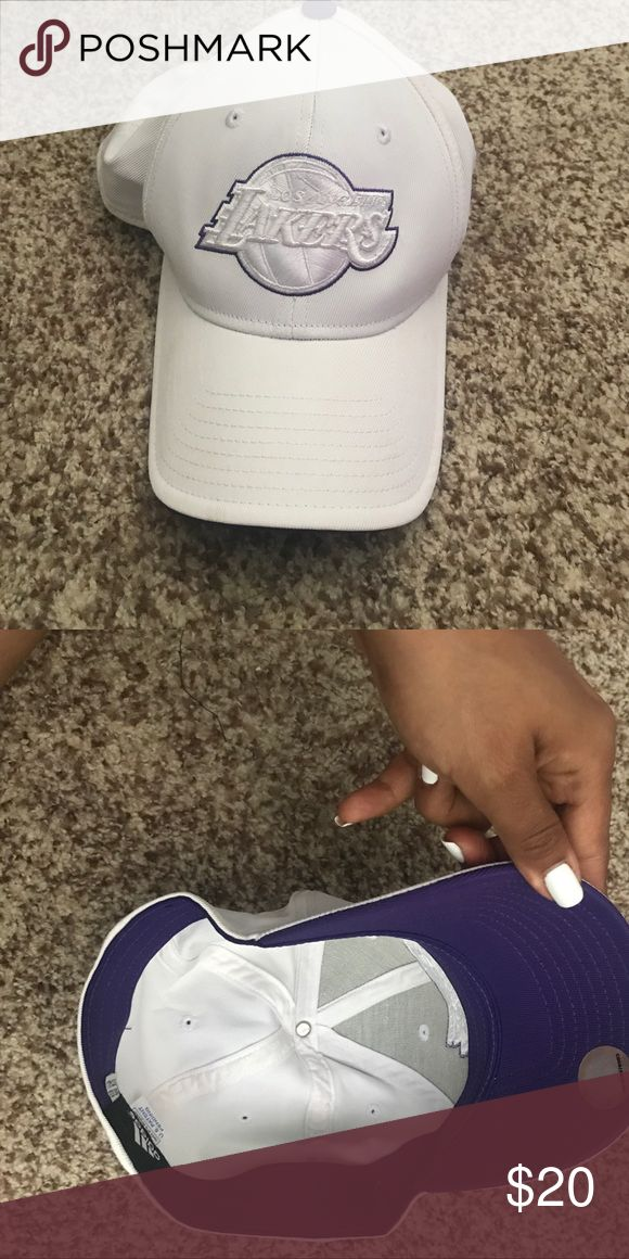 LA Laker Hat by Adidas Authentic LA Laker hat 🎩 by adidas ! White an purple kinda cool adidas Accessories Hats