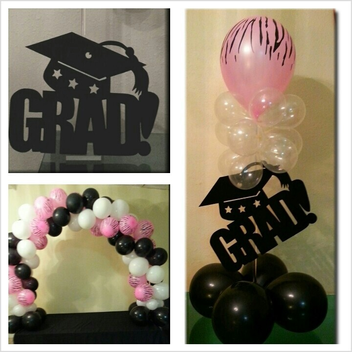 Graduation balloon decorations graduation board for Balloon decoration ideas for graduation