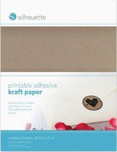 Cardstock - Adhesive : Kraft Paper - Printable & Adhesive