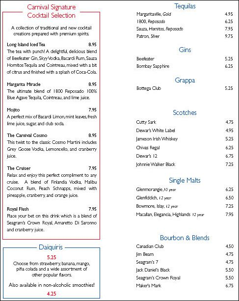 27 Best Cruise Ship Menus Images On Pinterest Cruise