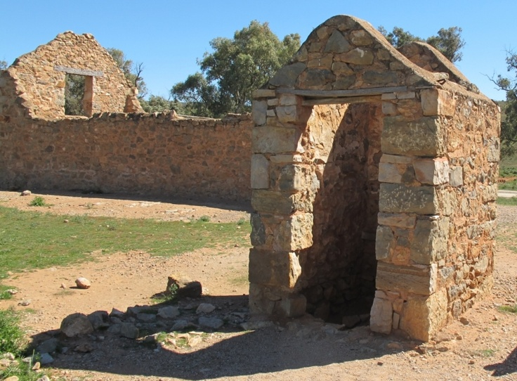 Old dunny, Kanyaka, South Australia.  They would have made it of bricks, but they didn't have any.