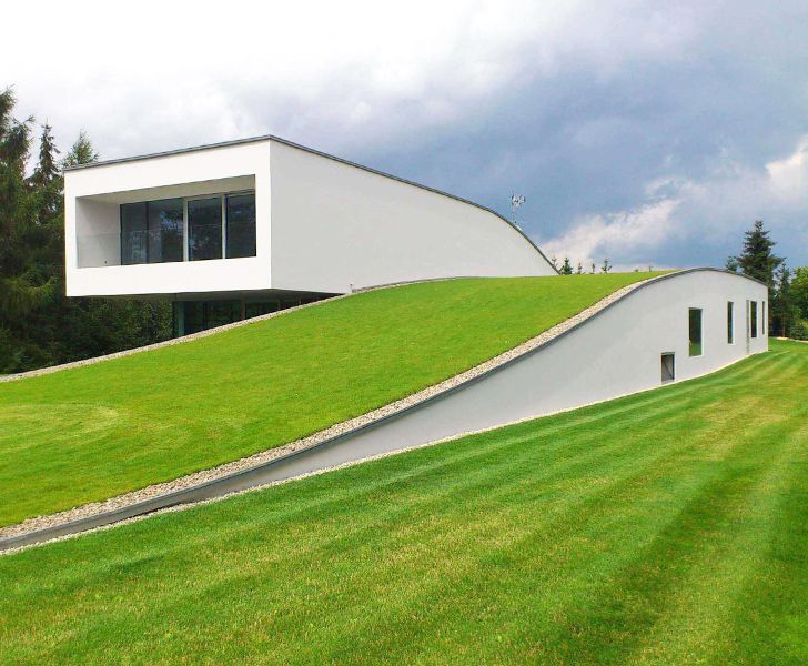 Stunning green-roofed Autofamily House features a drive-thru art gallery in Poland | Inhabitat - Sustainable Design Innovation, Eco Architecture, Green Building