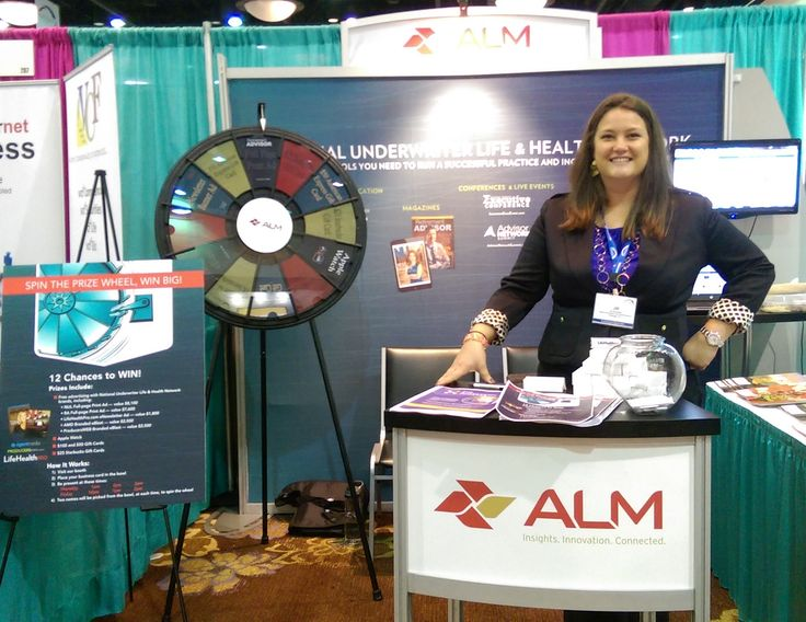 LifeHealthPro.com's parent company, ALM, had a booth with a wheel of fortune – with awesome prizes like an Apple Watch – and cellphone charging sticks. Read more about the Prize Wheel at https://PrizeWheel.com/blog/.