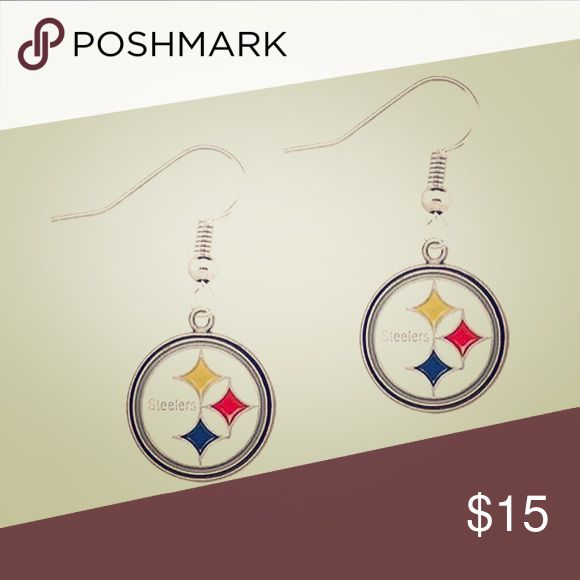 🎁Classic Steelers Symbol Drop Earrings AVAILABLE NOW!!! #steelers #classic #symbol #dropstyle #earrings !!!! The #ultimate #accessory for any #steelersfan !!! Show your #steelersspirit and your #steelernation membership #proudly with this adorable accessory!!! Perfect for #gameday and year round!!! All jewelry comes inside of a protective dust bag inside a unique handmade one of kind storage box!!! Makes a great gift 🎁!!! NFL Jewelry Earrings