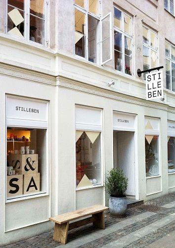 Stilleben store exterior in Denmark. Great blade sign.