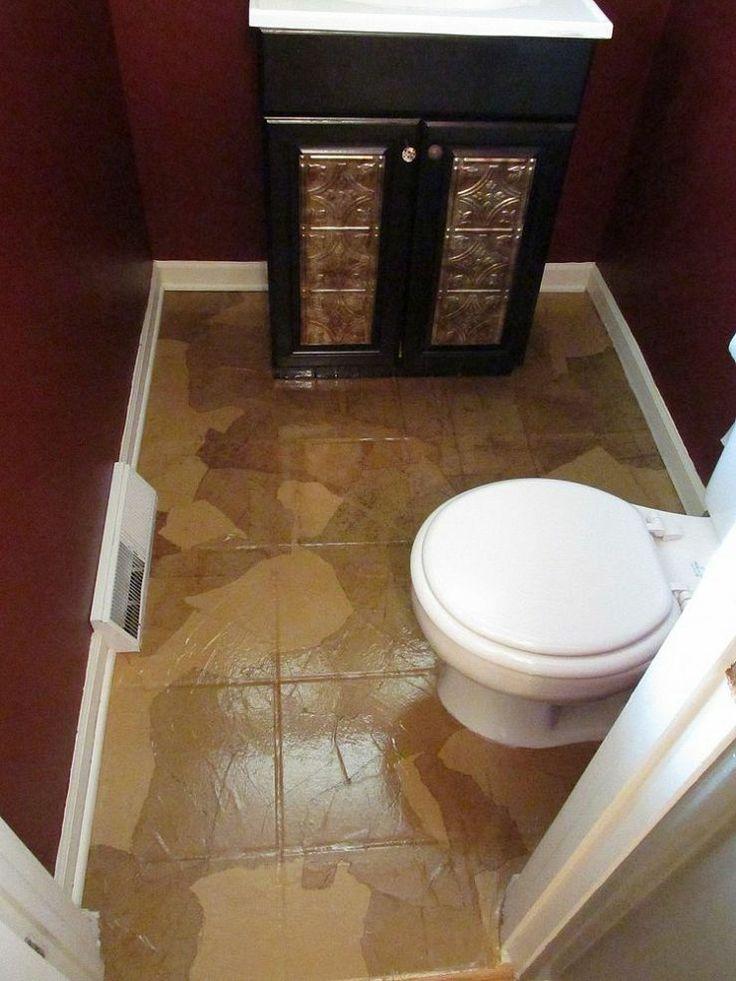 Inexpensive bathroom flooring gurus floor for Cheap bathroom ideas
