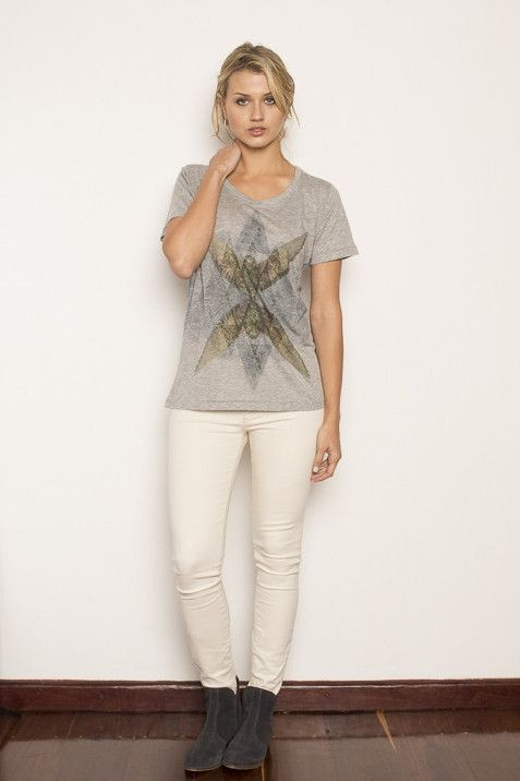 """Becksondergaard - BIRDY TEE  These fabulous tees feature hand-drawn prints by Danish accessory brand Becksondergaard. With a love for color and Scandinavian simplicity the designers bring a unique twist to """"not so basic"""" essentials. ethical fashion, fashion for good, responsible fashion, ecofashion, sustainable fashion"""