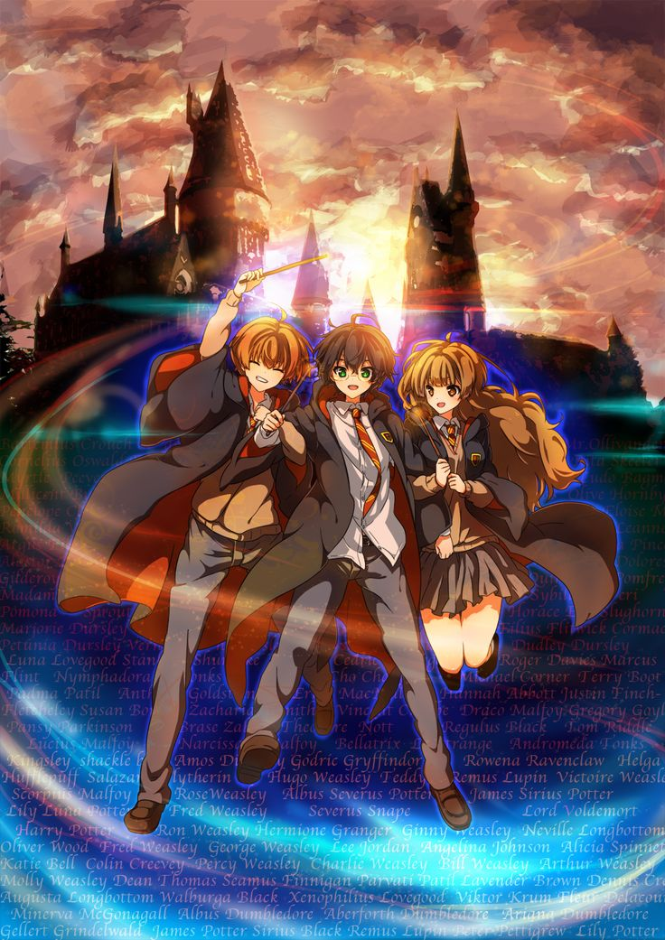 Anime Characters Hogwarts Houses : Tags fanart harry potter pixiv hermione granger