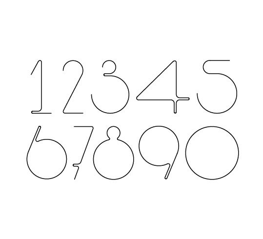 1234567890 - Hurumufu font | typography / graphic design: Karolien Pauly |