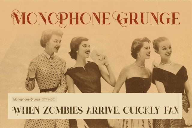 Monophone : Vintage Fancy Fonts Free Download