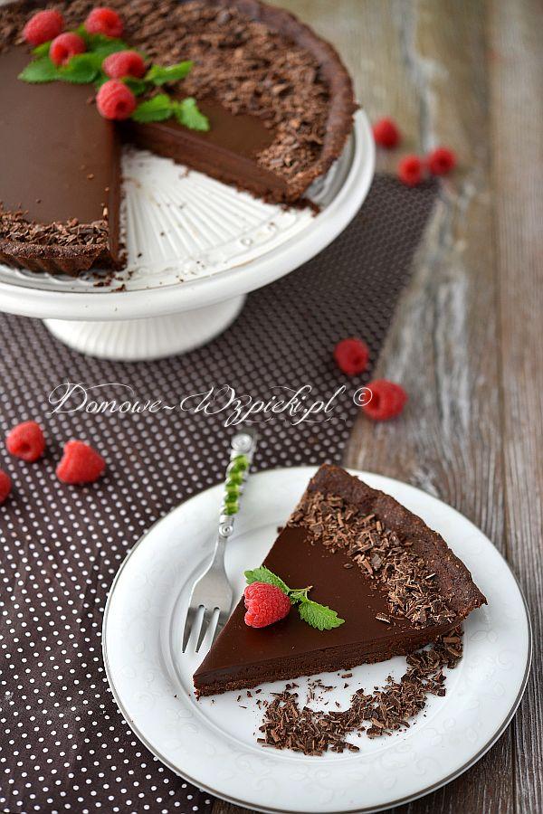 Tarta czekoladowa z creme fraiche