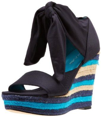 Donald J Pliner Women's Tiam Stripe Wedge Sandal,Navy,6 M US Donald J Pliner. $278.00