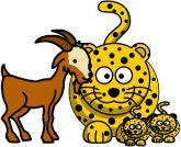 (2015-09) Lydhistorie med /g/'er om en ged og et par geparder