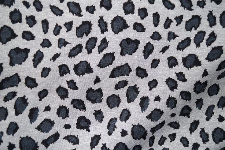 NB16/17 9170-069 Tricot dierenprint grijs/zwart