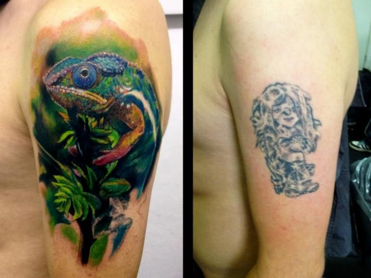 17 best images about great tattoo cover ups on pinterest for Cool cover up tattoos