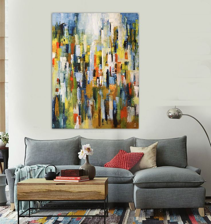 Find More Painting U0026 Calligraphy Information About Hand Painted Modern  Abstract Oil Painting City Buildings Office Bedroom Living Room Wall Art  Canvas,High ... Part 96