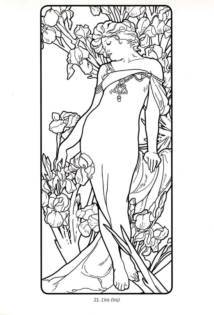 art deco coloring pages - photo#30