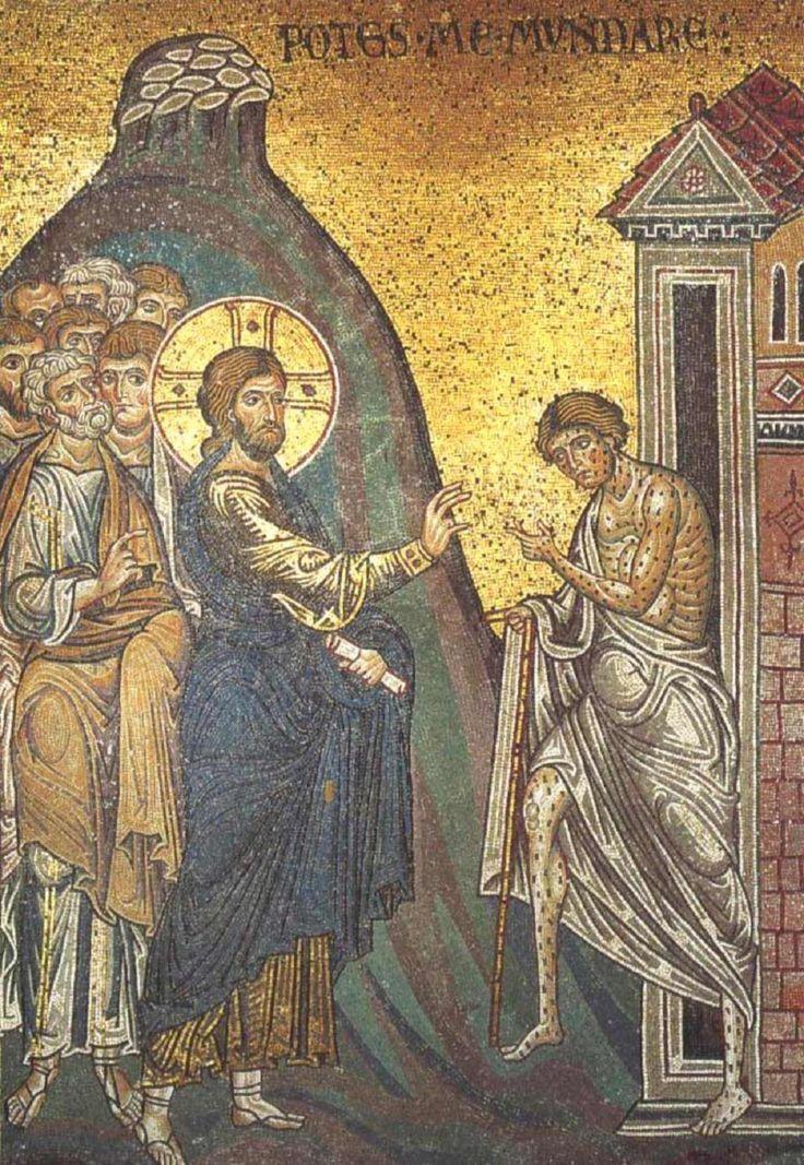 01 Anonymous. Christ Cleanses the Leper. Duomo di Monreale. Monreale (Sicily) (IT)
