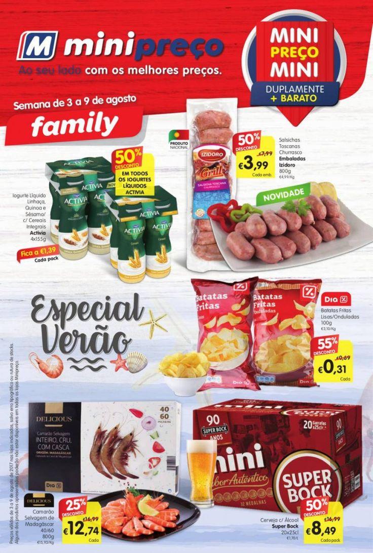 Folheto de promoções #Minipreço Family em vigor de 03 a 09 Agosto. Especial Verão.