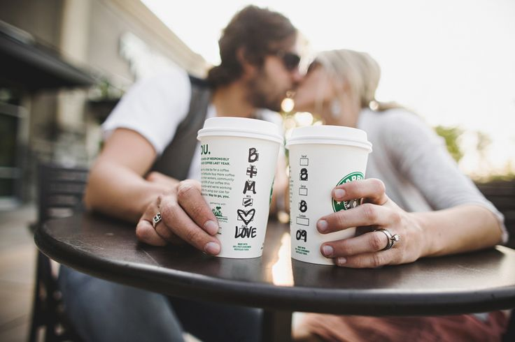 jay eads photography - cute save the date using Starbucks cups!
