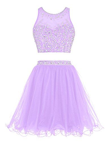 Tideclothes Short Beading Prom Dress Two Pieces Tulle Evening Dress Lavender US2 Tideclothes http://www.amazon.com/dp/B0188EDLYQ/ref=cm_sw_r_pi_dp_QYE.wb1QJY8JG