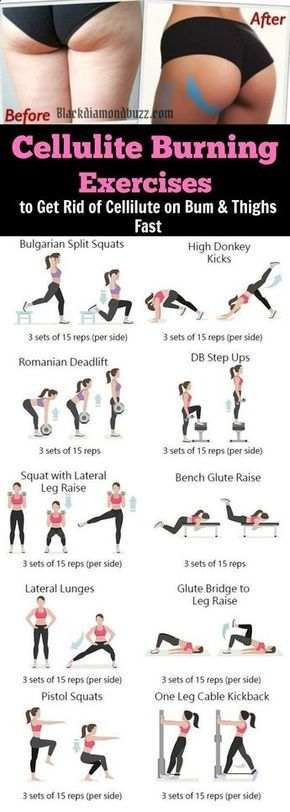 Gym & Entraînement : Cellulite Burning Exercises to Get Rid of Cellulite on Bum Legs Thighs Fast in
