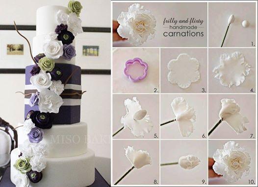 136 besten Fondantblüten Bilder auf Pinterest | Zuckerblumen ...