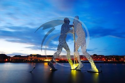 Germany - Molecule Man'' sculpture by Jonathan Borofsky