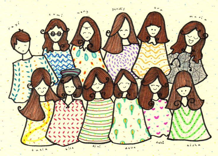 TwelveSG. perkumpulan gadis-gadis dimulai saat memasuki sekolah menengah atas kelas sepuluh dua yang di bimbing oleh bu nurbaiti. rindu.   Lini Katahati - Gelak Tawa