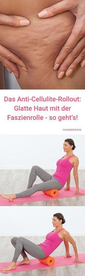 Anti-Cellulite-Rollout: Cellulite bekämpfen mit der Faszienrolle – Übungen