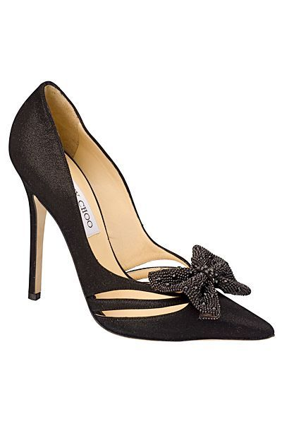 Lady in Black, Black, Fashion, Style, Chic, Glamour, Bow, Feminine, Jimmy Choo, Shoes, 2012 Pre-Fall