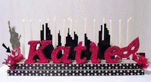New York City Candle Lighting Board in your color choices. Includes SkyLine and Statue of Liberty.