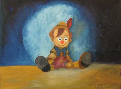Pinocchio, after a show