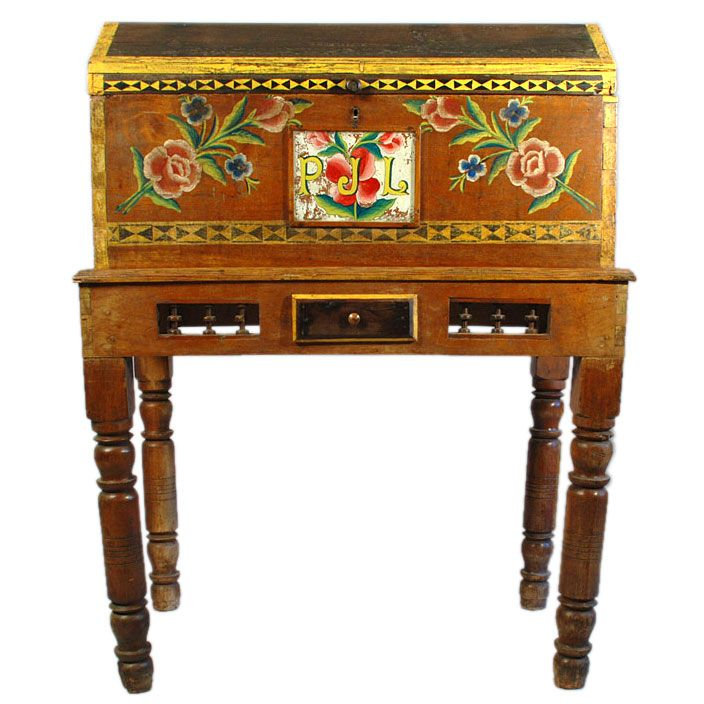 Vintage Mexican Wedding Chest - Puebla, Circa 1930 - 85 Best Painted Furniture Images On Pinterest Mexicans, Benches