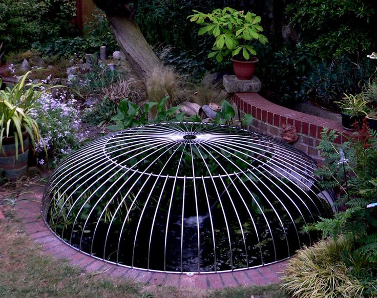 152 best pond cover images on pinterest pond covers for Garden pond safety covers