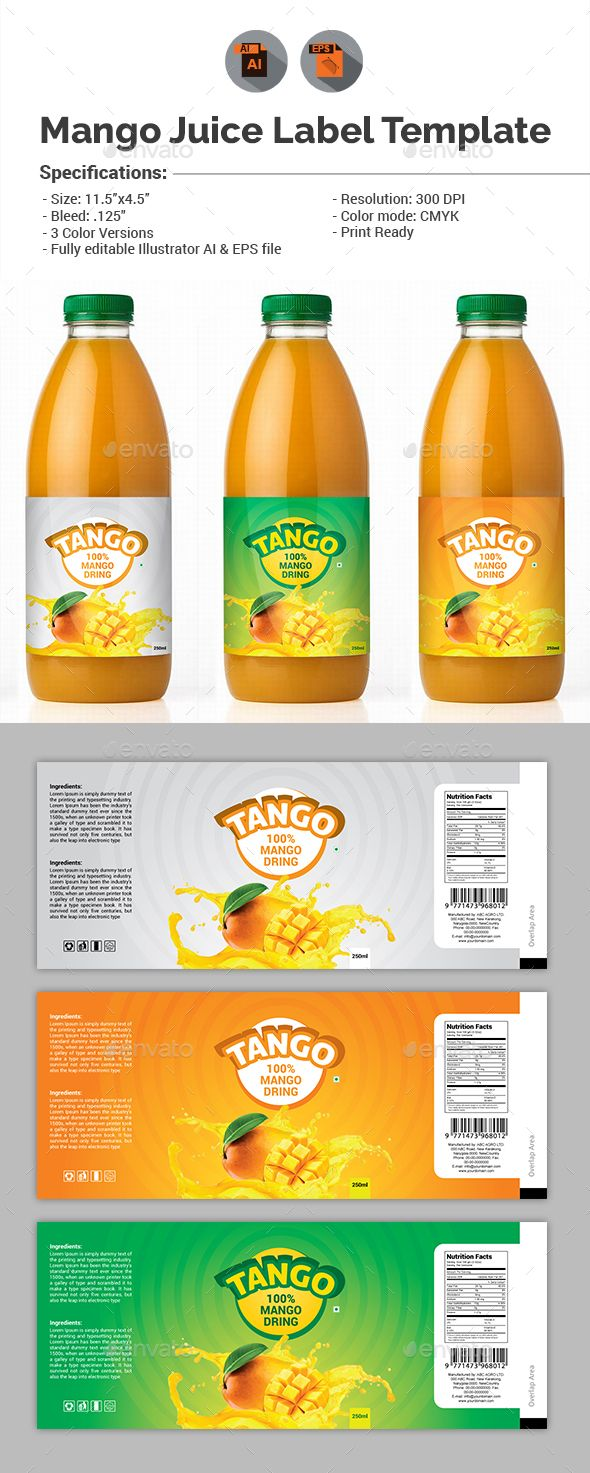 #Mango Juice Label Template -# Packaging Print Templates Download here: https://graphicriver.net/item/mango-juice-label-template/15609124?ref=classicdesignp