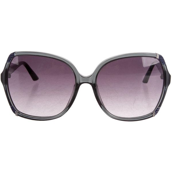 Pre-owned Missoni Sunglasses (110 CAD) ❤ liked on Polyvore featuring accessories, eyewear, sunglasses, blue, logo sunglasses, missoni sunglasses, missoni glasses, blue lens glasses and blue lens sunglasses