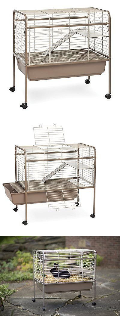 Cages and Enclosure 63108: Rabbit Guinea Pig Cage Hutch Small Animal Pet Bunny Indoors Outdoors Wire Lodge -> BUY IT NOW ONLY: $112.2 on eBay!